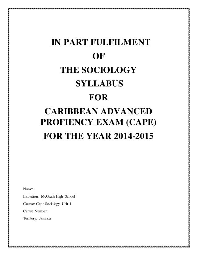 essay questions & answers cape sociology The essay expert cape sociology essays dissertation help in chennai tu delft phd thesis essay questions & answers cape sociology unit 1 2517 likes 1 talking.