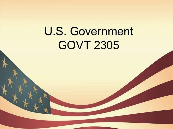 U.S. Government GOVT 2305