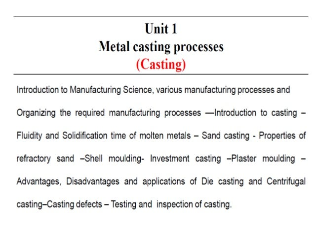 Fundamental of manufacturing processes