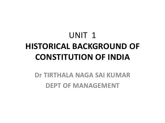 Unit 1 constitution of india 2018 pdf