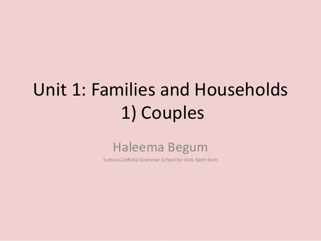 sociology and family units