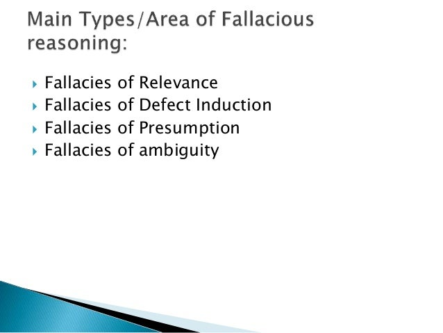fallacies of relevance critical thinking Phil 106: critical thinking larkin southern illinois university edwardsville fallacies i definitions a fallacy =df a common pattern of bad but seductive reasoning 1 the b fallacies of relevance 1.