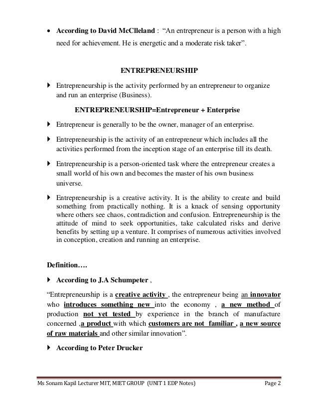 Entrepreneurship development programme notes  Slide 2
