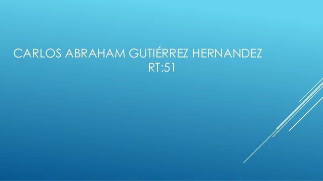CARLOS ABRAHAM GUTIÉRREZ HERNANDEZ RT:51