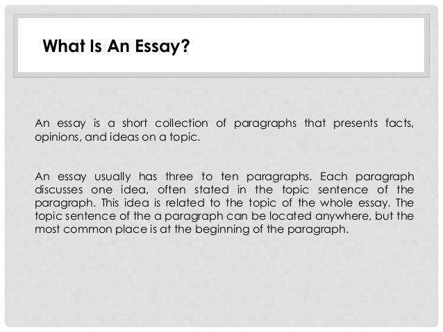 Unit 1 exploring the essay