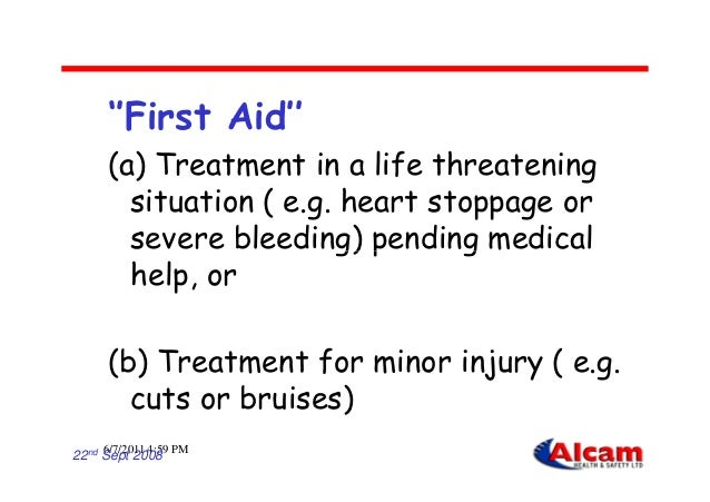 first aid in the workplace Element performance criteria  1 establish a workplace first aid facility 11 plan a first aid facility in the workplace to address workplace and.