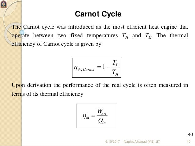 Basics Of Internal Combution Engine on Carnot Cycle Efficiency Derivation