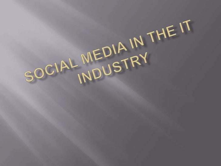    Social media is the best    branding tool; you are able to    create awareness, appeal and    generate traffic   Pers...