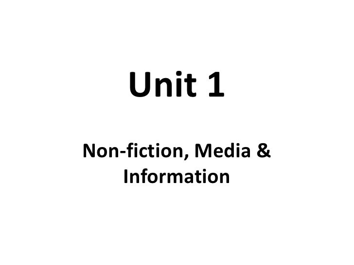 Unit 1 OCR GCSE English Introduction
