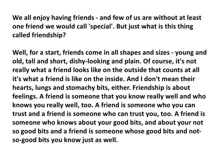 Friendship essay introduction