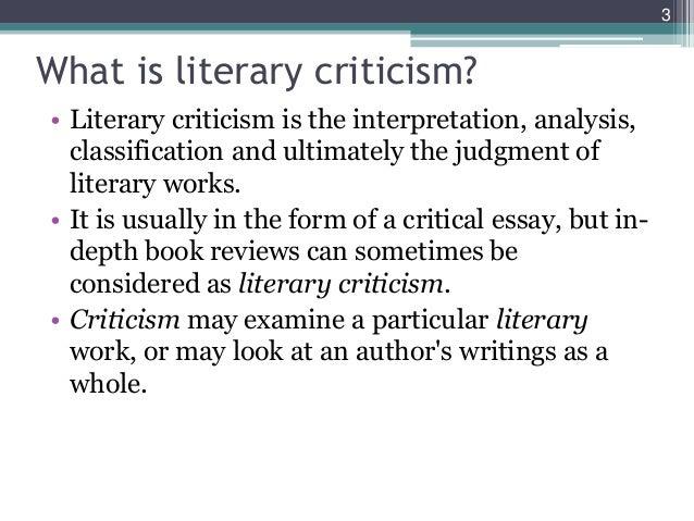literature essays literary criticism