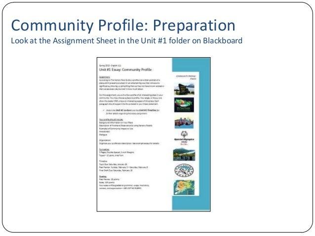 essay a community profile