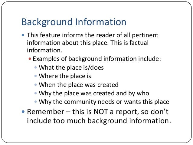essay lecture background information