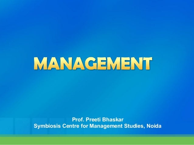 Prof. Preeti BhaskarSymbiosis Centre for Management Studies, Noida