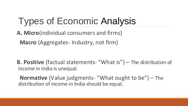 Economic analysis assignment 1