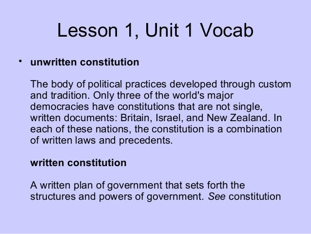 Difference between written constitution and unwritten constitution essay