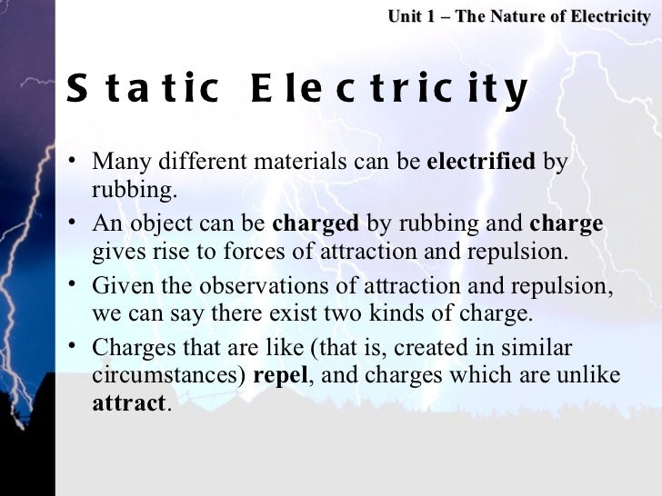 Glass And Static Electricity