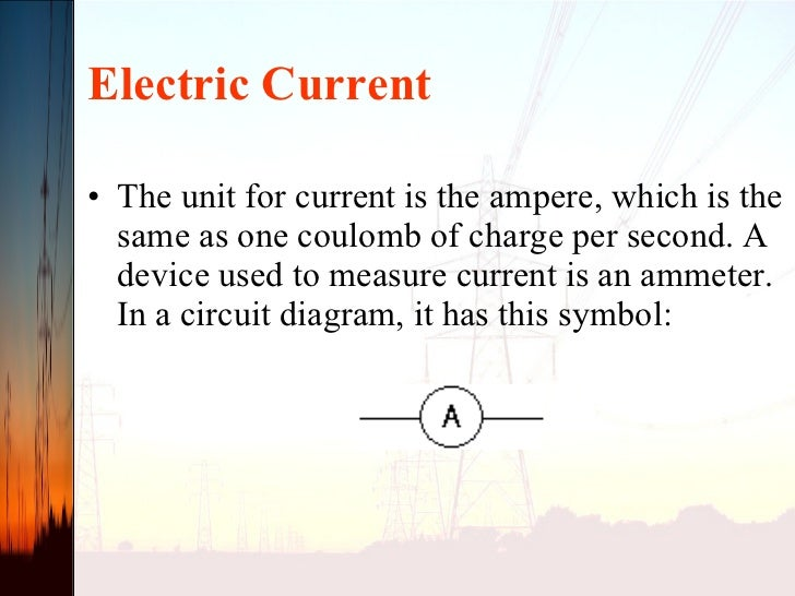 Unit 1 Ccurrent Electricity