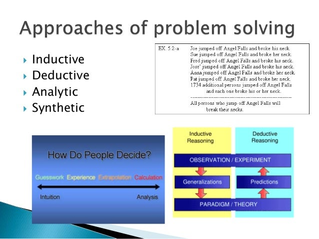systematic approach to problem solving for health care providers Educational strategies associated with development of thought processes and approach to problem solving that reasoning required by health care providers.