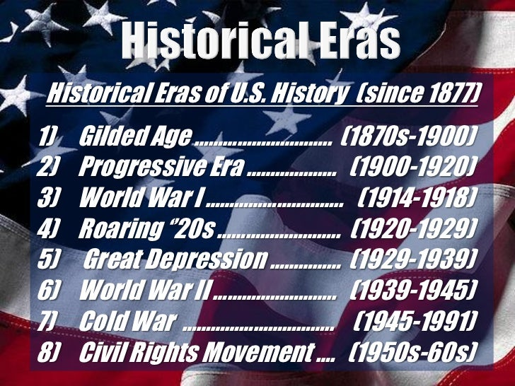 unit powerpoint the gilded age intro to unit  historical eras of u s history since