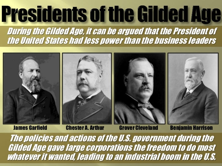 forgotten presidents of gilded age The forgotten presidents and their effectiveness the gilded age brought numerous massive trusts that were containing the core of the riches in the hands of the few.