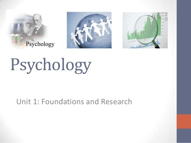 Psychology Unit 1: Foundations and Research