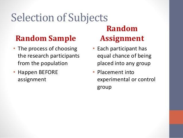nonrandom paper about study participants