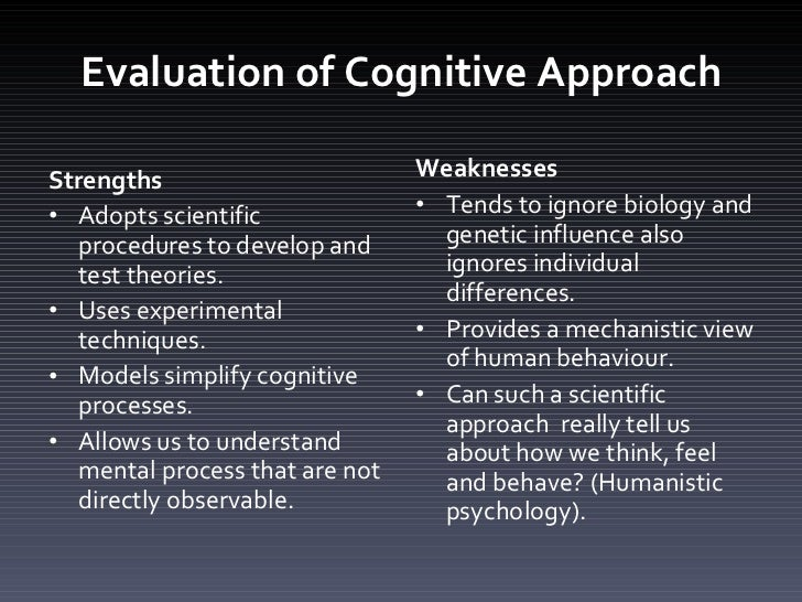 strengths of cognitive psychology