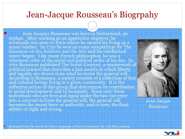 "rousseau essay competition Rousseau and his contribution to naturalistic educational participate in an essay competition the topic of the essay was ""has the rousseau's essay."