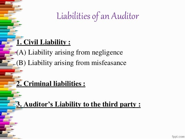 assignment 2 4 auditor s legal liability Use at least two (2) quality academic resources in this assignment note: wikipedia and other websites do not qualify as academic resources  analyze the required generally accepted auditing standards, professional ethics, and legal liability of the auditor assess how the sarbanes-oxley act has affected auditing evaluate an audit report.
