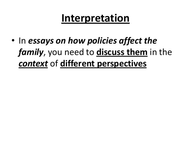 Social Policy And Family Essay Introduction - image 3