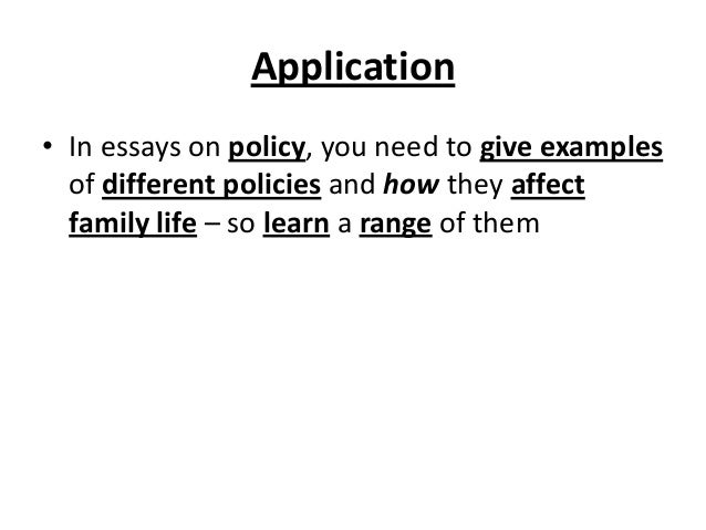 Social policy and family essay example