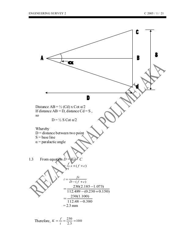 Tachymetry survey POLITEKNIK MELAKA
