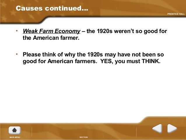 What was one sign of a weakening economy in the 1920s?