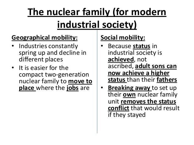 Pre industrial family definition essay