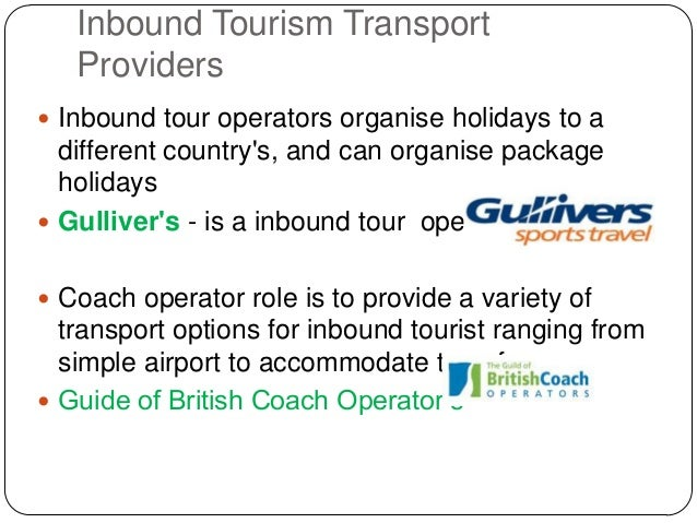 the inbound tour operators Inbound tourism, package tours, production chain, price, turnover  but italian  inbound tour operators do not generally sell their products and services on.