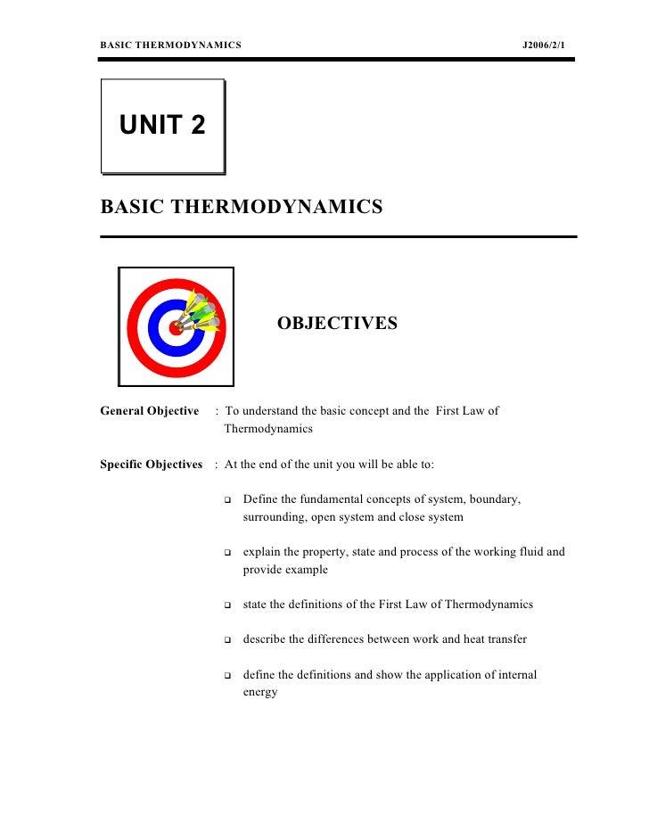 BASIC THERMODYNAMICS                                                                J2006/2/1   UNIT 2BASIC THERMODYNAMICS...