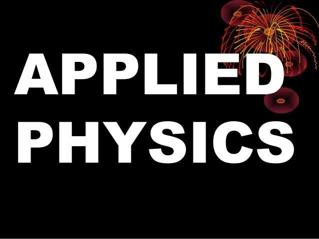 APPLIEDPHYSICS     1