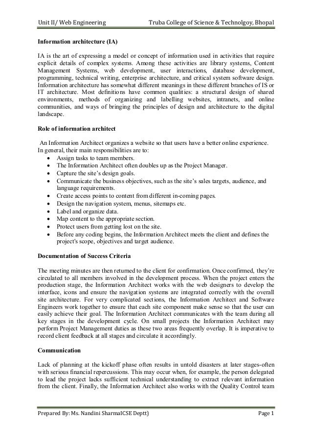 Web Engineering Notes II as per RGPV Syllabus
