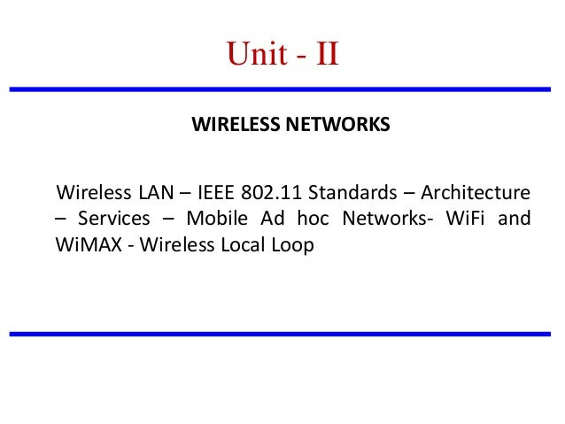 Mobile communication for Ieee 802 11 architecture