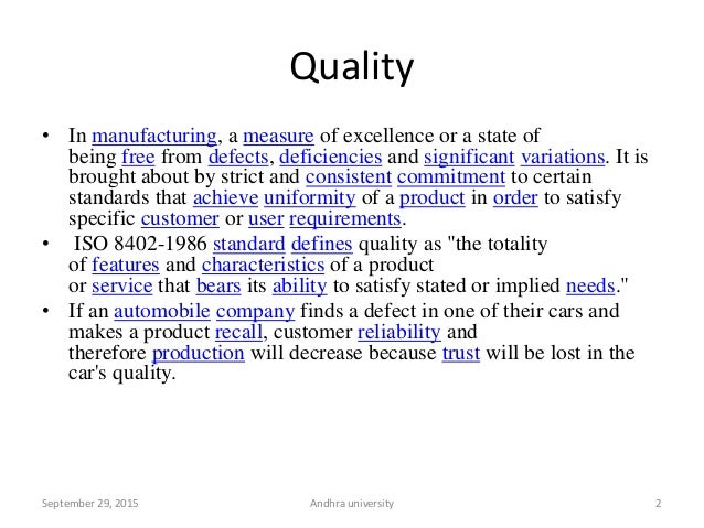 Quality control & Assurance in Analytical Chemistry Slide 2