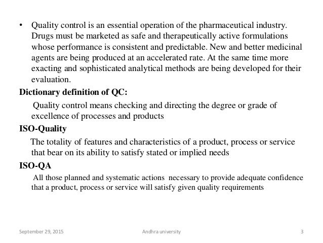 Quality control & Assurance in Analytical Chemistry Slide 3