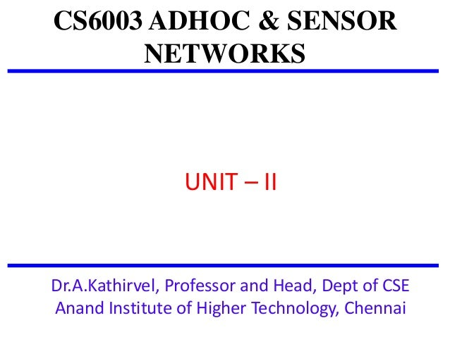 Ad Hoc And Sensor Networks Theory And Applications Pdf