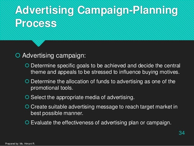 process of planning the advertising campaign How do i: monitor my marketing campaign  if you plan to monitor advertising using this method,  include the monitoring process from the start of the activity.
