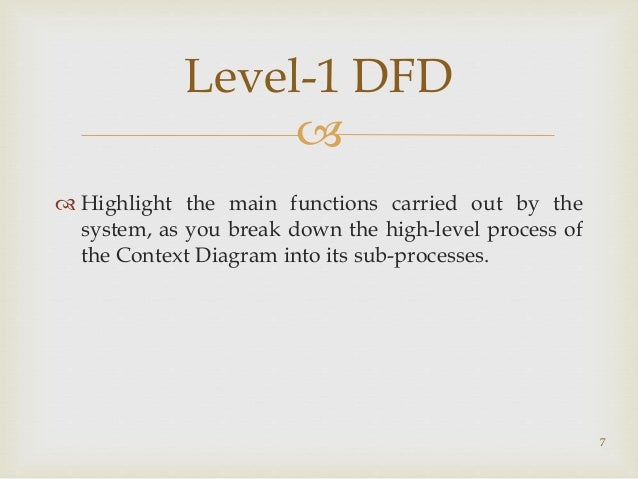 Software engineering erd dfd decision tree and table 6 example of level 0 7 ccuart Images