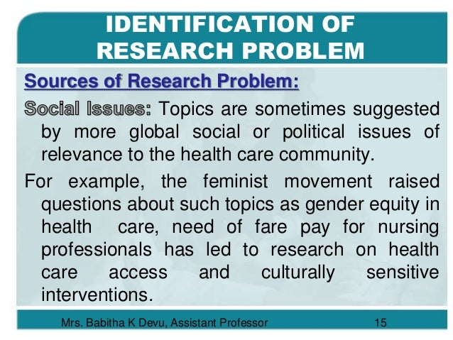 Babitha's Note on Research Problem & Objectives