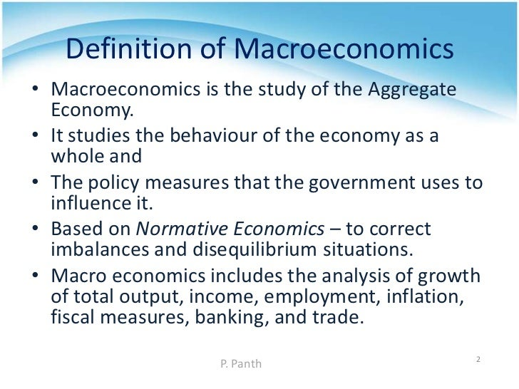 scope of macroeconomics