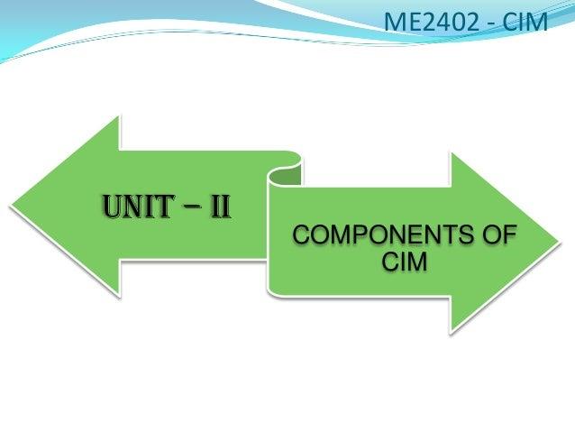ME2402 - CIMUNIT – II            COMPONENTS OF                 CIM