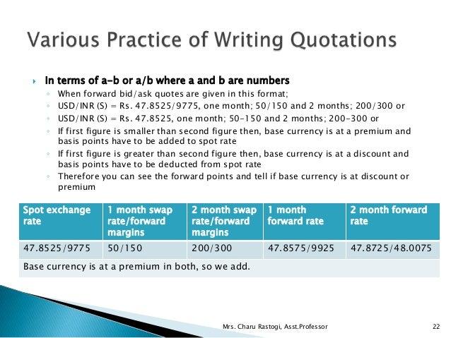 Unit 2.2 Exchange Rate Quotations & Forex Markets