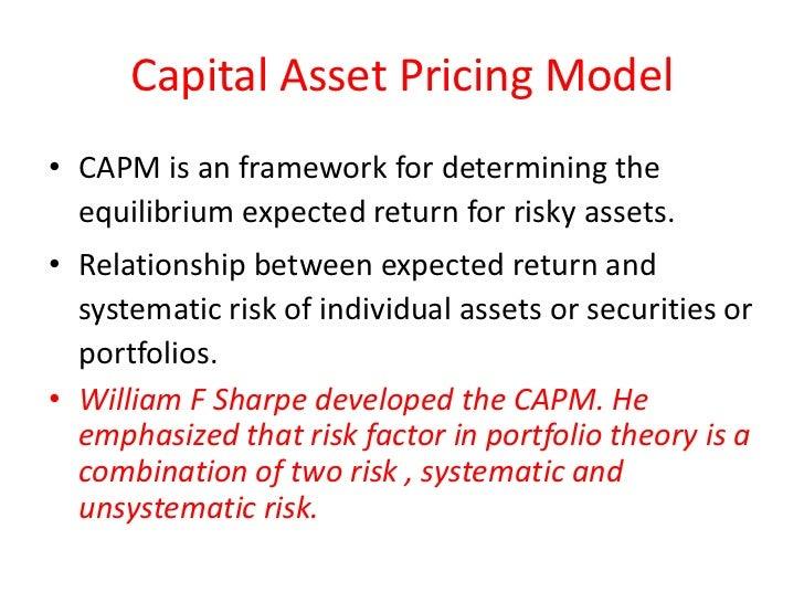 capital asset pricing model and optimal A labor capital asset pricing model lars-alexander kuehn for tractability, we do not model the supply of labor as an optimal household decision.